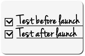 Testing checklist for a Drupal website launch