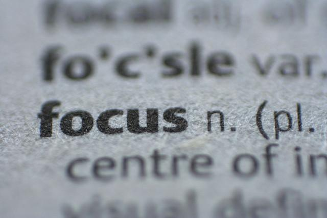 Great content is wasted if there is no focus!