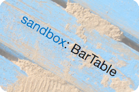 Sandbox module: BarTables
